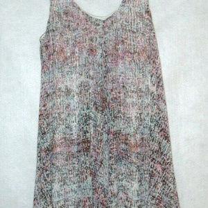 ecree Purple Multi Color Print Lined Dress  Large